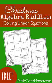 solving linear equations activity