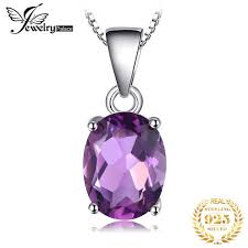 natural amethyst pendant necklace 925