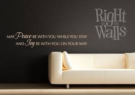Peace Be With You Quote Entryway Wall Decals Vinyl Art Stickers