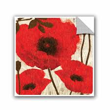 Winston Porter Jackie Poppies I Removable Wall Decal Wayfair