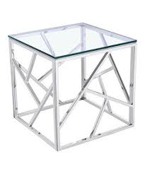 stainless steel cube coffee table