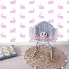 pink bunny rabbit wallpaper mini maison
