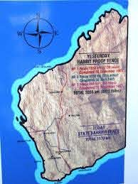 Map Of The Rabbit Proof Fence In Western Australia Known Today As The State Barrier Fence Essay Format Review Essay Summary Writing
