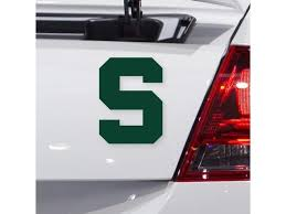 Nudge Printing Michigan State University Spartans Block S Logo Car Decal Bumper Sticker Laptop Sticker Newegg Com
