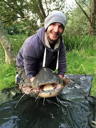 A NEW RECORD: Byron Newman was free lining a 3″ cylinder of meat into the  shallow silt and bagged himself this whopping 77lb 2oz Catfish! (Sept 2015)  | Fishing holidays in Cornwall