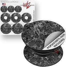Amazon Com Decal Style Vinyl Skin Wrap 3 Pack For Popsockets Marble Granite 06 Black Gray Popsocket Not Included By Wraptorskinz Everything Else
