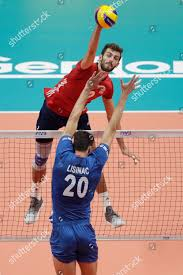 United States Aaron Russell smashes ball Serbias Editorial Stock Photo -  Stock Image   Shutterstock