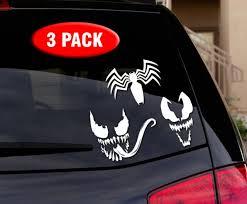 Venom Spiderman 3 Pack Vinyl Decal Sticker For Car Truck Wall Laptop For Sale Online