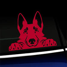 Peeking German Shepherd Vinyl Car Decal Choose Color Red Walmart Com Walmart Com
