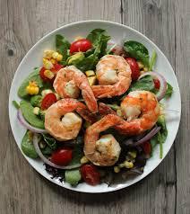 Avocado, Corn and Grilled Herb Shrimp ...