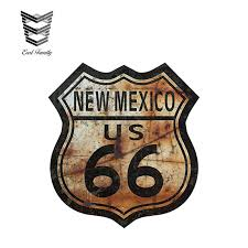 Earlfamily 13cm X 11 8cm Route 66 New Mexico Decal Sticker Us Highway Sign Car Bumper Window Vinyl Decal Car Stickers Car Stickers Aliexpress