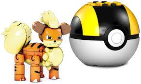 Pokemon Mega Construx Series 11 Growlithe Set Mattel - ToyWiz