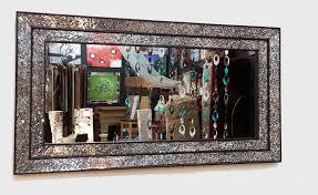mosaic mirror double frame 68x128cm