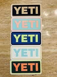 Yeti Cooler Decal Stickers Set Of 5 Ebay
