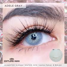 Softlens pretty doll adele gray/ abu   Shopee Indonesia