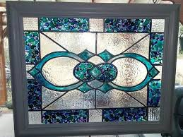 large 11x14 framed faux stained glass