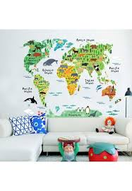 Oem Colorful World Map Kids Room Decor Wall Sticker Wall Decals Nursery Decor New Beautiful Price In Saudi Arabia Wadi Saudi Arabia Kanbkam