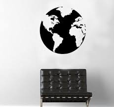 Large World Map Globe Wall Decal Home Decor Gift Idea Etsy