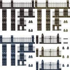 Graveyard Fence Tile Rpg Maker Mv Cemetery 768x768 Png Clipart Download