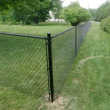 China 4 Height Black Vinyl Coated Chainlink Garden Fence Photos Pictures Made In China Com