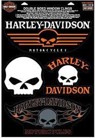 Amazon Com Harley Davidson Willie G Skulls Window Clings 4 Logos Per Sheet Dw1199669 Harley Davidson Automotive