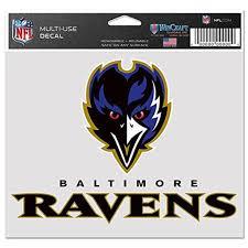 Baltimore Ravens Official Nfl 4 Inch X 6 Inch Car Window Cling Decal By Wincraft Walmart Com Walmart Com