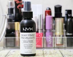 nyx dewy finish setting spray does