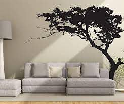 Amazon Com Fymural Huge Tree Wall Decal For Living Room Tv Background Removable Decoration Art Sticker 86 6x70 9 Black Arts Crafts Sewing