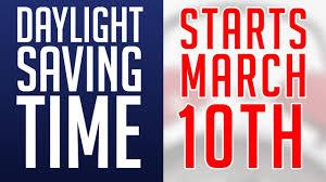 Daylight Saving Time 2019