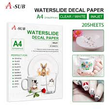 A4 Waterslide Decal Transfer Paper 20 Sheets For Inkjet Printer Wish