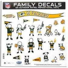 Amazon Com Green Bay Packers 11 X11 Family Car Decal Sheet Kitchen Dining