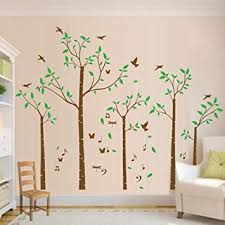 Amazon Com Five Family Tree Wall Decals Wall Sticker Removable Vinyl Mural Art Wall Stickers Kids Room Nursery Bedroom Living Room Decoration 70 8tall Brown Baby