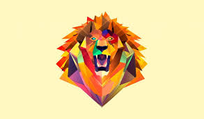3d lion art very simple wallpapers 9