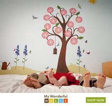 Splendid Flower Garden Wall Decal Sticker Kit Jumbo Set Baby Nursery Wall Decor Baby Girl Room Themes Girl Nursery Room