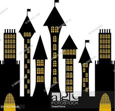 Isolated Vector Ancient Gothic Castle Black Silhouette Stock Vector Vector And Low Budget Royalty Free Image Pic Esy 052389646 Agefotostock