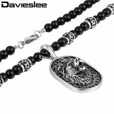 davieslee mens lion necklace pendant