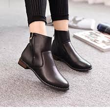 women s shoes nz leather low heel round
