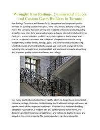 Iron Railing Design For Balcony In Toronto By Rishabh Singla Issuu