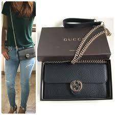 plain leather chain wallet long wallets