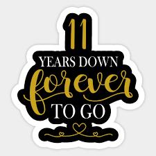 11th wedding anniversary shirt 11 years