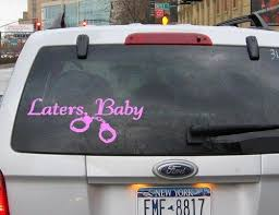 50 Shades Of Grey Laters Baby Car Decal Laters Baby Wonderland Party 50 Shades Of Grey