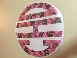 Monogram Pink Camouflage Vinyl Stickers Chickadee S Designs
