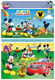 Kit Imprimible La Casa De Mickey Mouse Invitaciones Tarjetas