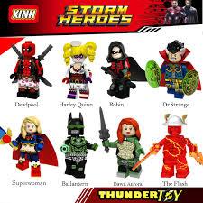 Đồ chơi lắp ráp Mini Figure nhân vật anh hùng Deadpool, robin ...