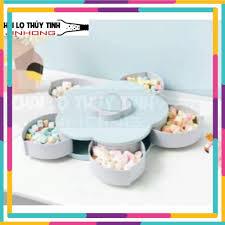 Hộp đựng bánh kẹo tết xoay 5 ngăn-JS