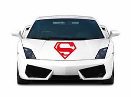 Custom Weatherproof Superman Logo Auto Car Hood Bumper Sticker Vinyl Decal Ebay