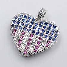 sterling silver pave stone