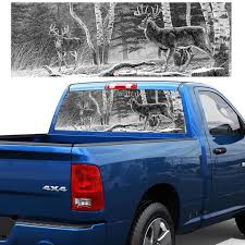 Deer Hunting Back Window Stickers Rear Window Graphic Decal Forest Animals Deer Hunting Rear Window Sticker For Truck Suv Car Stickers Aliexpress