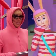 Trixie serving Popee the Performer ...