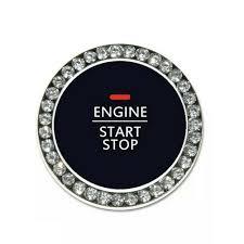 Bling Diamond Car Start Engine Ignition Button Decor Ring Cover Crystal Sticker Ebay